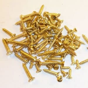 Phillips Head Brass plated Countersunk Screws 10 mm x 2.3 mm 100 screws