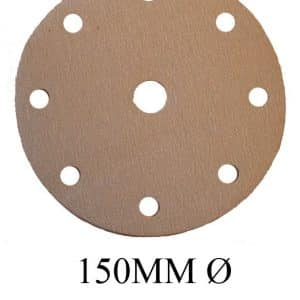 150mm Orbital Sanding Discs Hook & Loop 9 holes