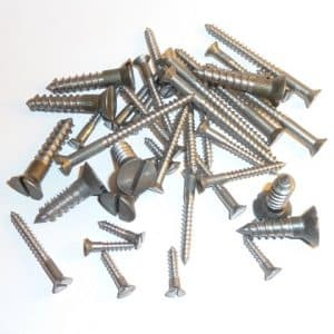 "Steel Wood Screws 2 1/2"" x 8g (100 screws)"