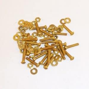 Solid Brass Machine Screws 10mm x 2mm