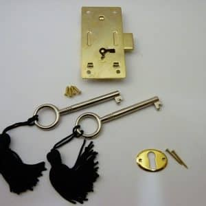Brass plated Steel Cabinet Door Lock - Large