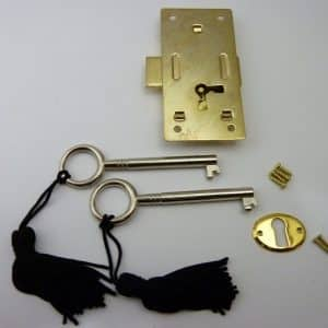 Brass plated Steel Cabinet Door Lock - Small