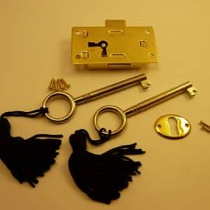 Brass plated Steel Drawer Locks - Large