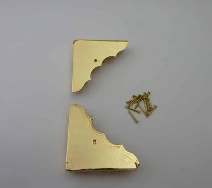 46mmx46mm Brass Plated Box Corners