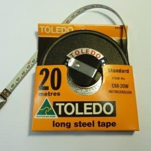 20m/66 Feet Toledo Tape Measure