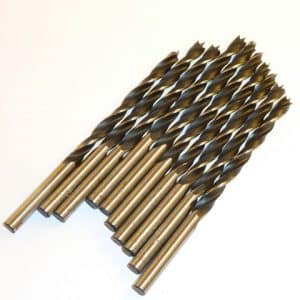 3.0mm Brad Point Drill Bits for Wood (10 pieces)