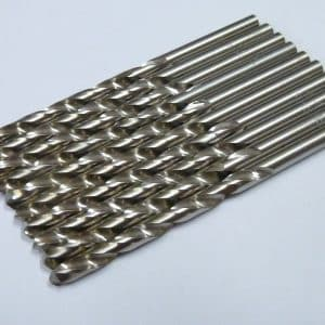 4.0mm Drill Bits High Speed Steel for Metal (10 pieces)