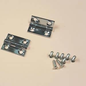 """3/4"""" x 5/8"""" Butt Hinges Chrome plated"""