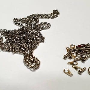 Chain Chrome plated with 6 fittings