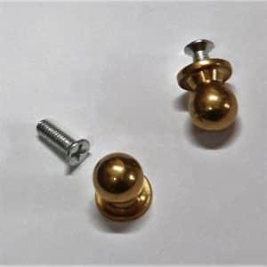 10mm Solid Brass Knobs (round)