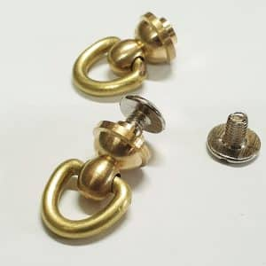 7mm brass plated knobs with pull ring